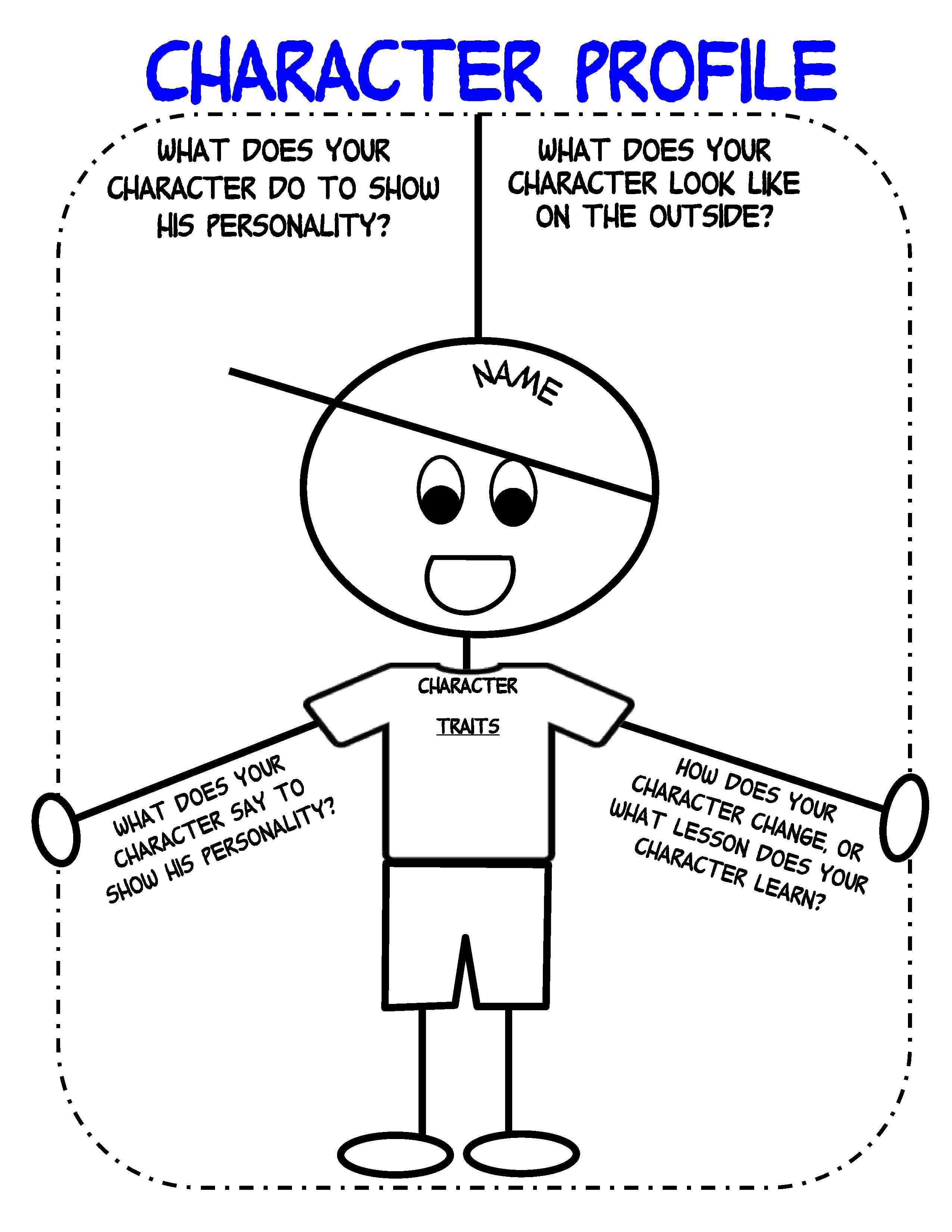 Characterization Worksheet Middle School: characterization worksheet   kutshet com,